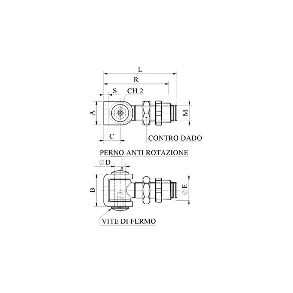 Croquis Bisagra Superior/Inferior Regulable Soldar