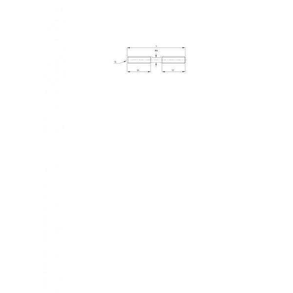 Croquis Varilla doble rosca M6