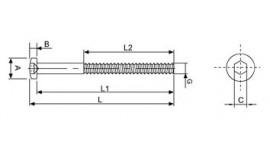 Foto secundaria de Terminal rosca externa izquierda M10