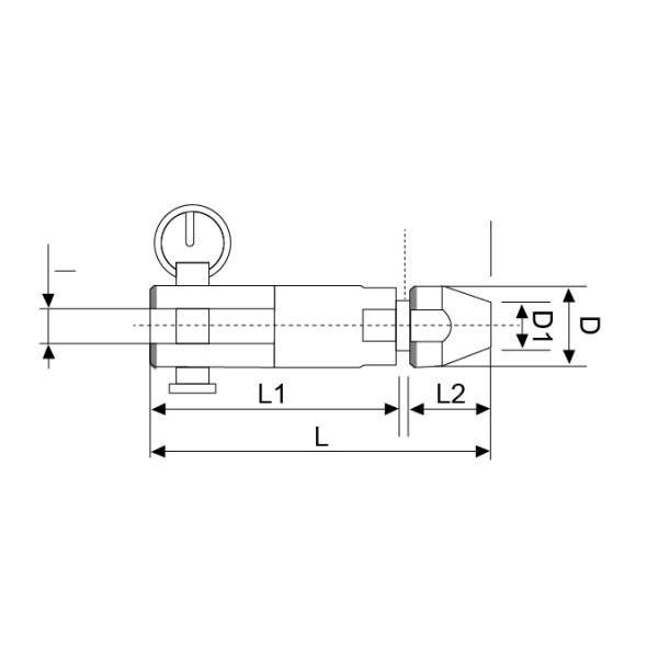 Croquis TERMINAL APRIETE RAPIDO CABLE 5MM INOX 316