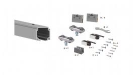 Foto de Kit completo instalación RG40 para hoja de cristal de hasta 60kg+perfil de 2 metros